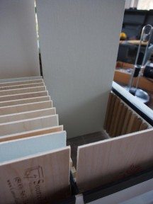 Canvas panels at each end of a panel box